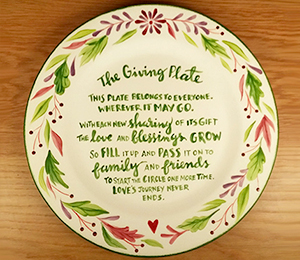 Draper The Giving Plate