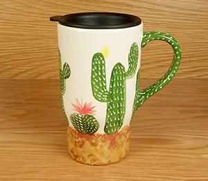 Sandy Cactus Travel Mug