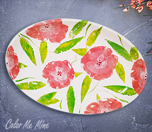 Sandy Floral Paper Stamping