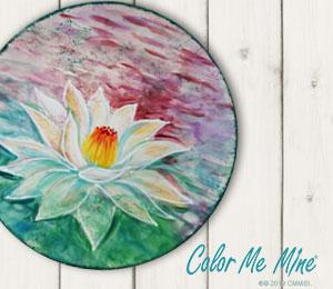 Sandy Lotus Flower Plate