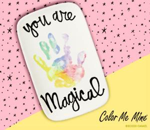 Sandy Rainbow Handprint