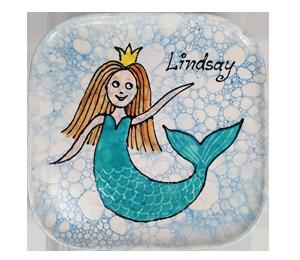 Sandy Mermaid Plate