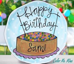 Sandy Birthday Plate