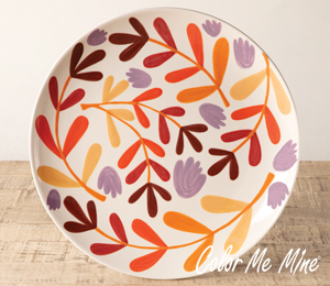 Sandy Fall Floral Charger