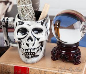 Sandy Antiqued Skull Mug