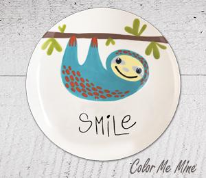 Sandy Sloth Smile Plate