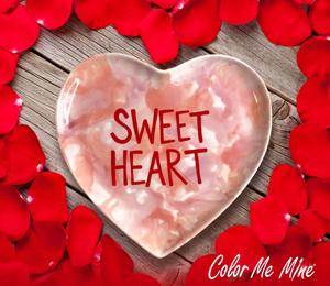 Sandy Candy Heart Plate