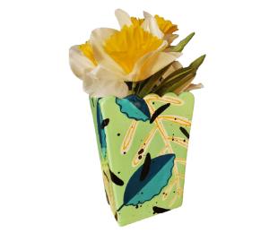 Sandy Leafy Vase