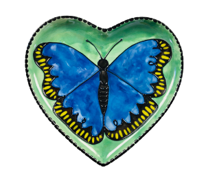 Sandy Butterfly Plate