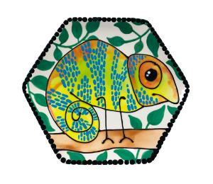 Sandy Chameleon Plate
