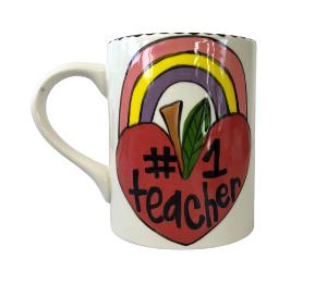 Sandy Rainbow Apple Mug