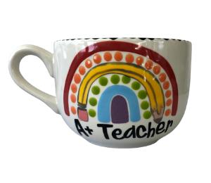 Sandy Polka Dot Rainbow Mug